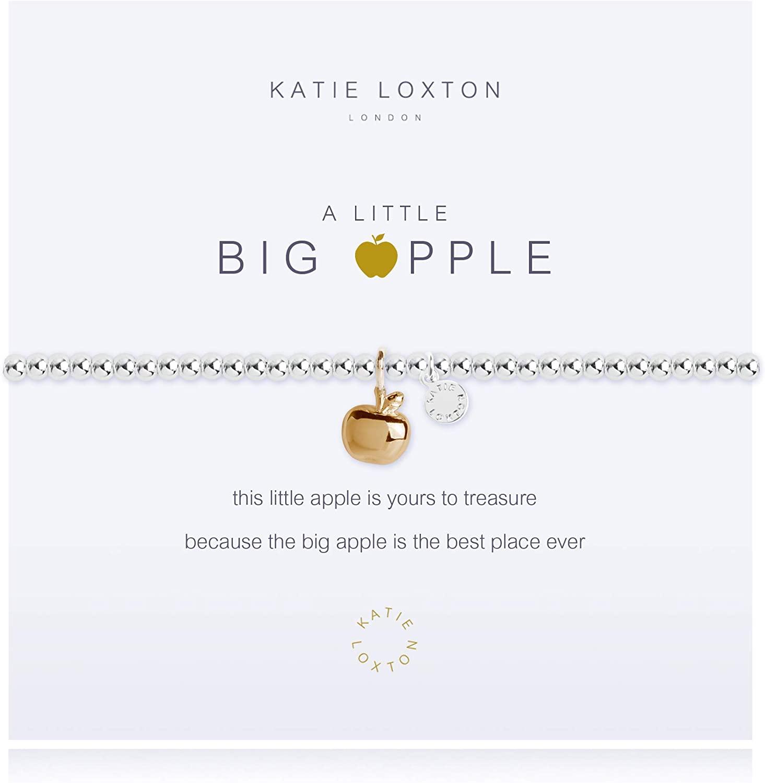 Katie Loxton a Little Big Apple Womens Stretch Adjustable Band Fashion Charm Bracelet