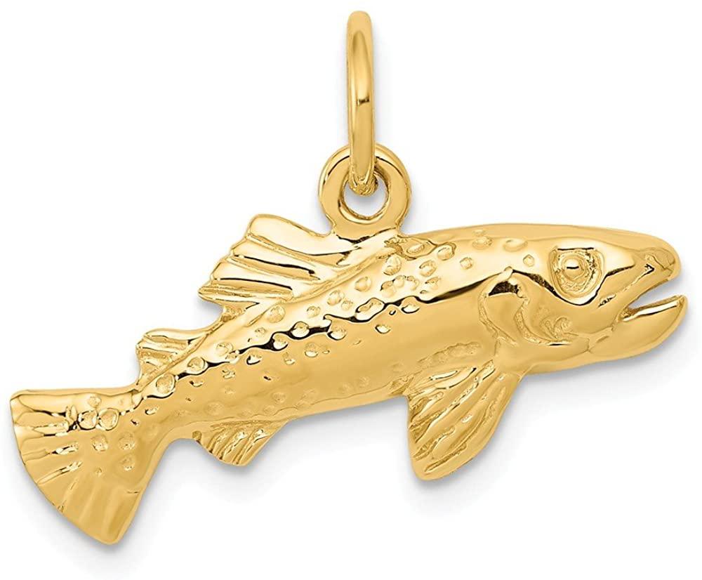 14k Yellow Gold Fish Charm