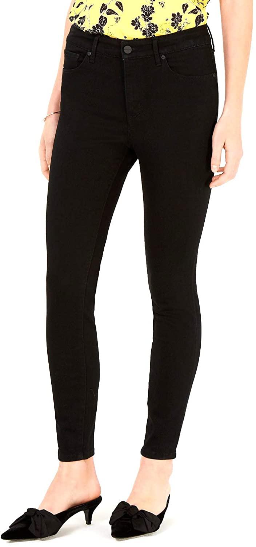 Maison Jules   Denim High-Rise Skinny Jeans   Black Rinse