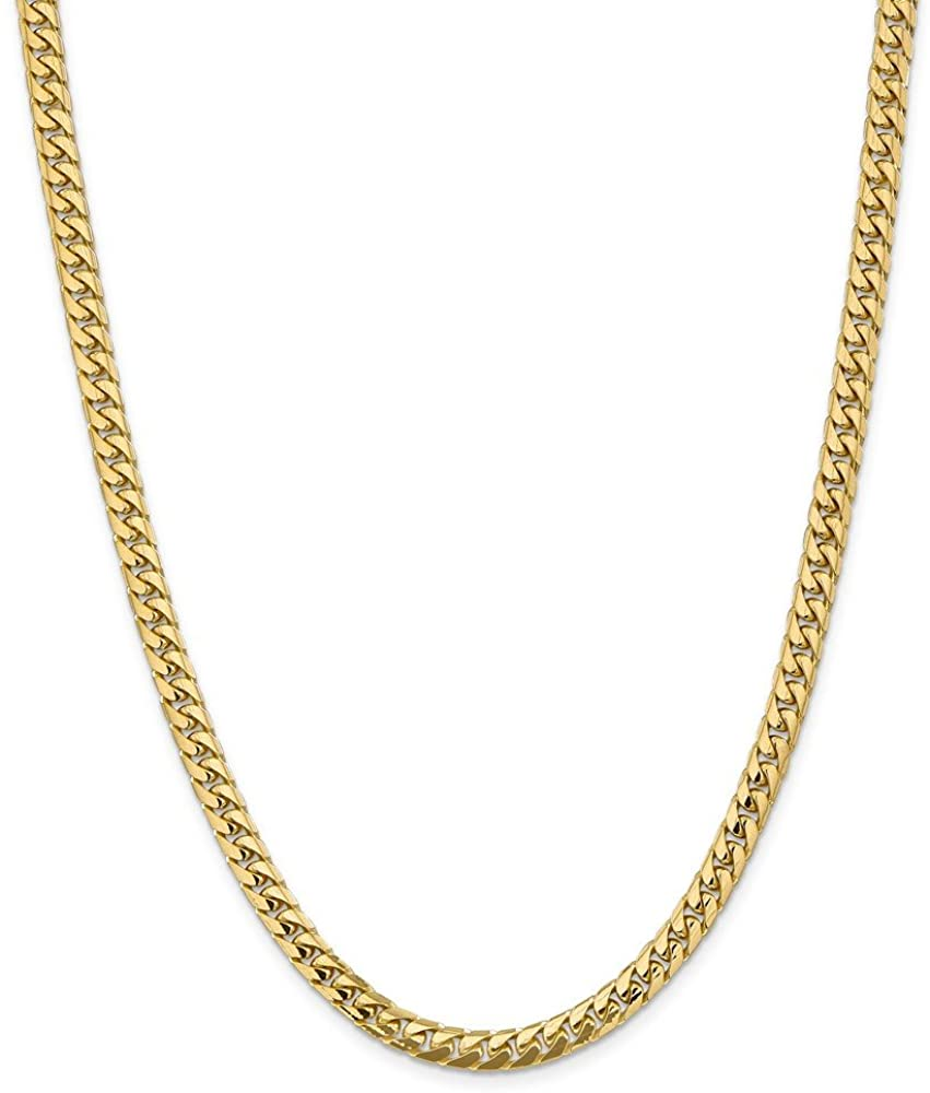 Jewelry Necklaces Chains 14k 5.5mm Solid Miami Cuban Chain