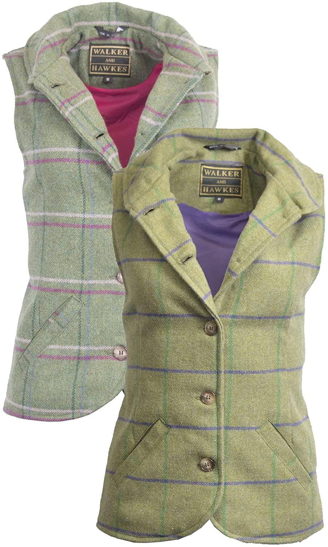Walker & Hawkes - Ladies Ashby Traditional English-Style Tweed Waistcoat Vest