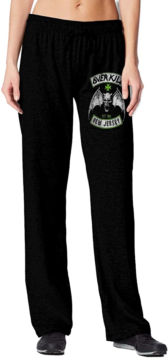 Women's Overkill Logo Stylish Jogger Closed Sports Pants Black