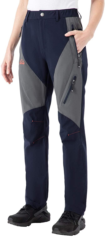 Gopune Women's Hiking Cargo Pants Outdoor Lightweight Water-Resistant UPF 50 Travel Camping Pants Zipper Pockets