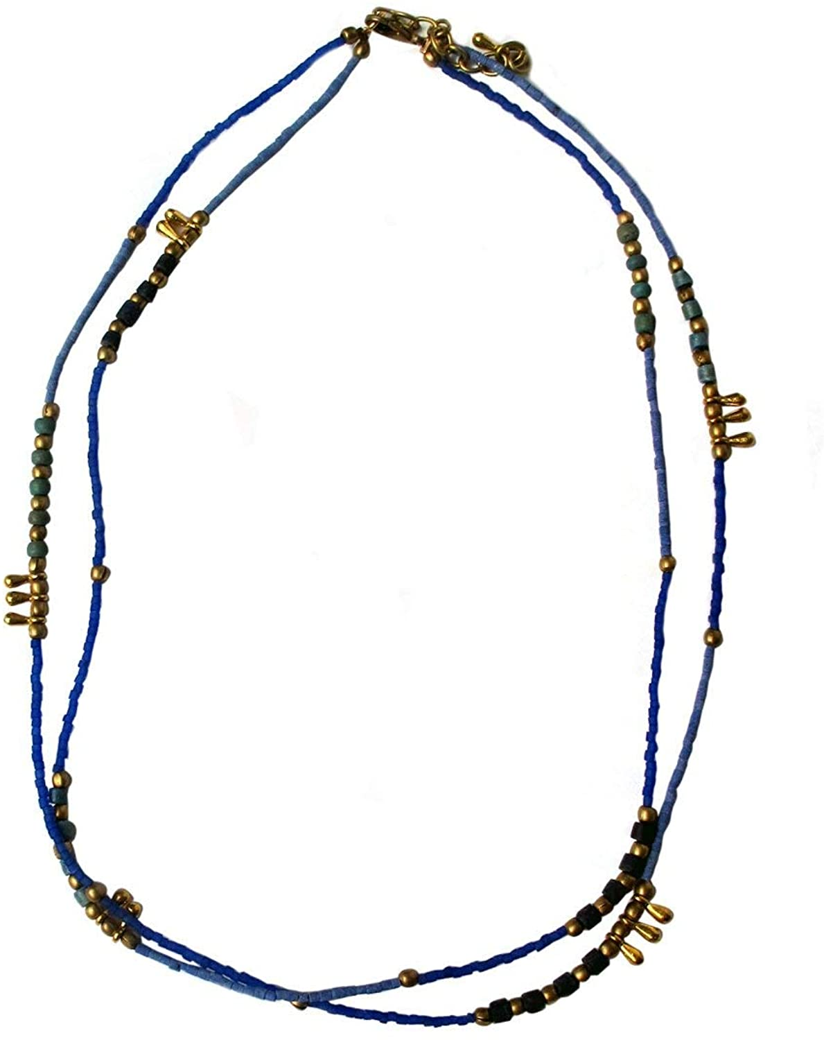Agabhumi Blue Brass Beads