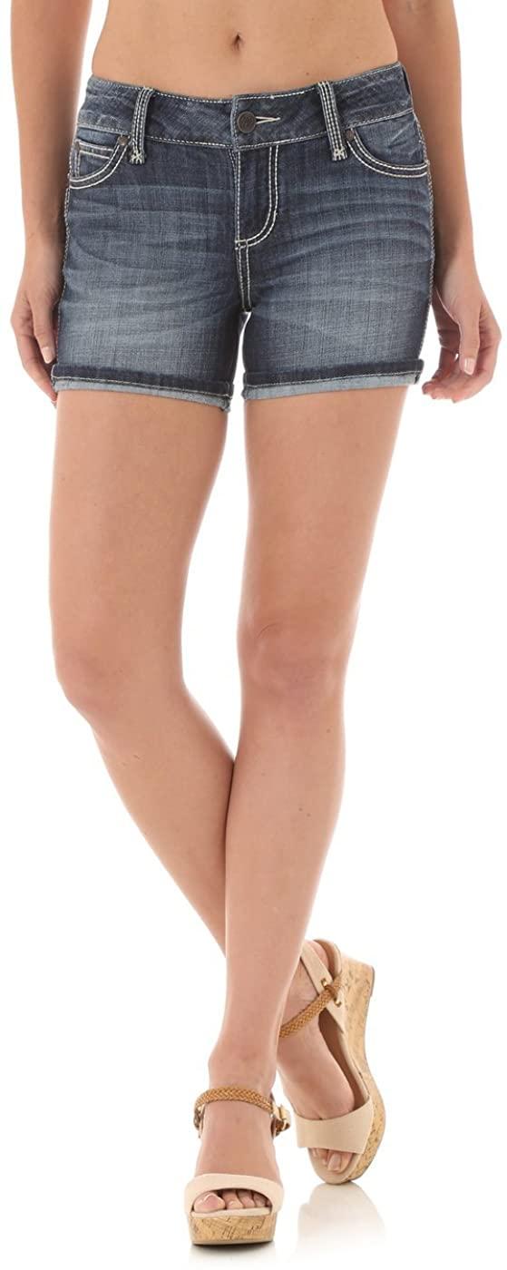 Wrangler Women's Mae Retro Mid Rise Denim Shorts