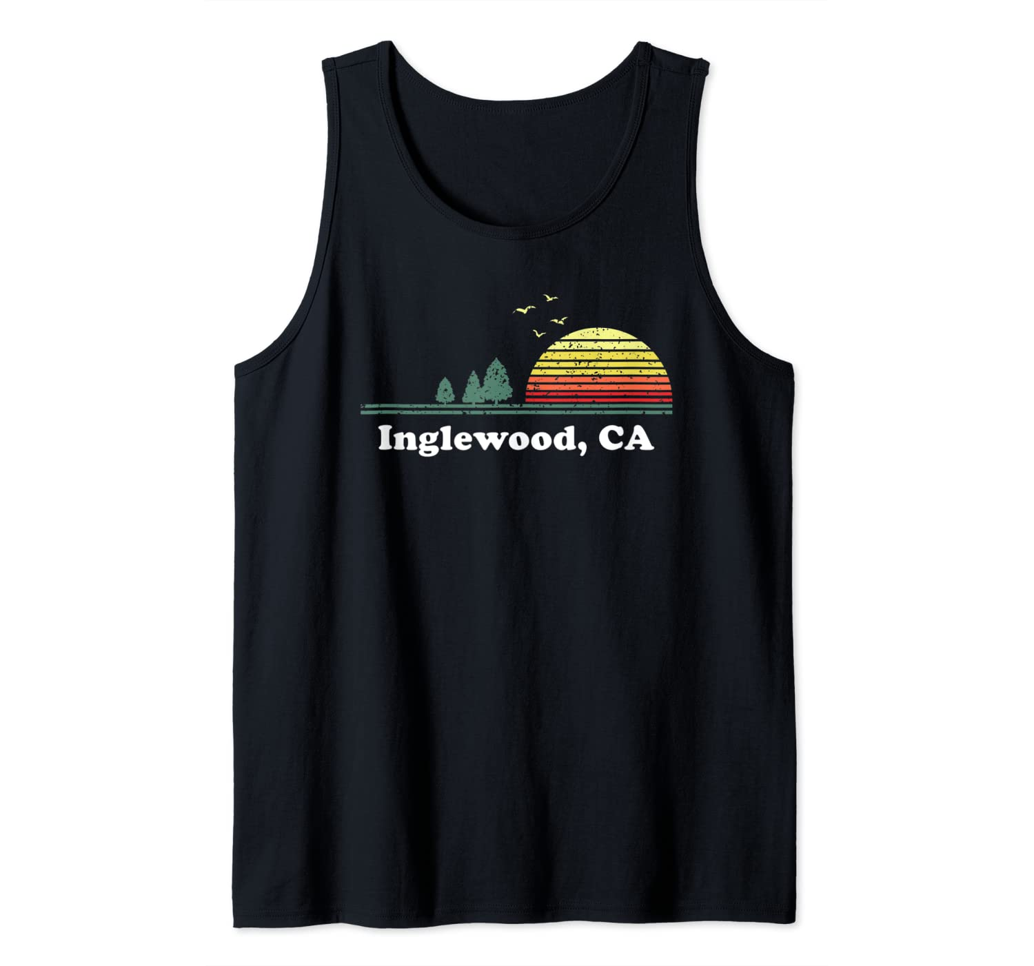 Vintage Inglewood, California Home Souvenir Print Tank Top
