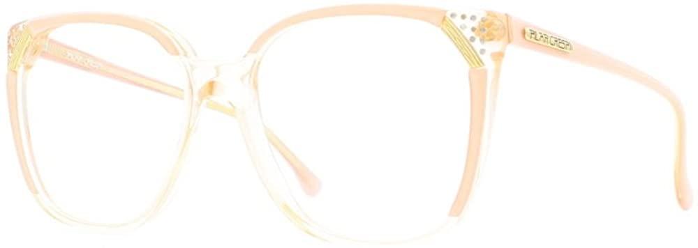 Pilar Crespi 607 S5 Orange and Clear Authentic Women Vintage Eyeglasses Frame