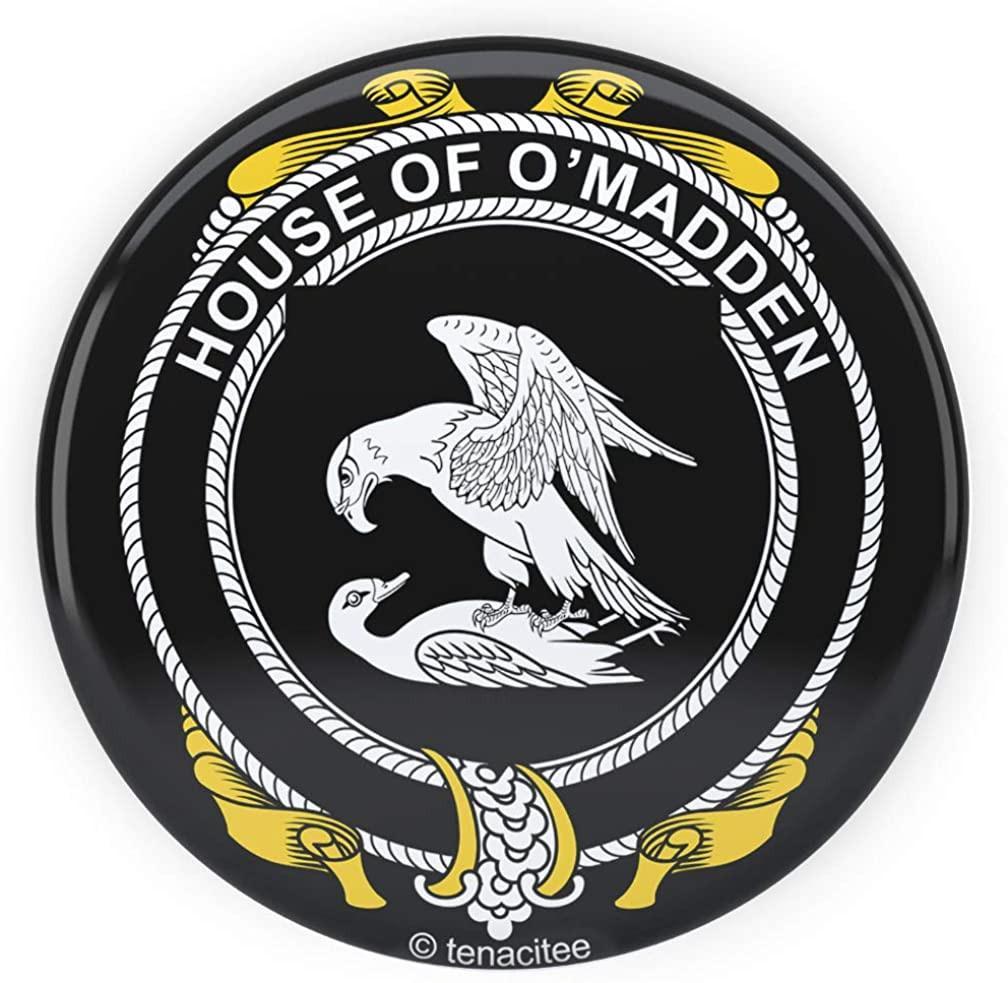Tenacitee Irish House Heraldry O'Madden Pinback Button