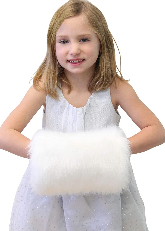 Bridal Faux fur muff, Girls Faux Fur Hand Muffs