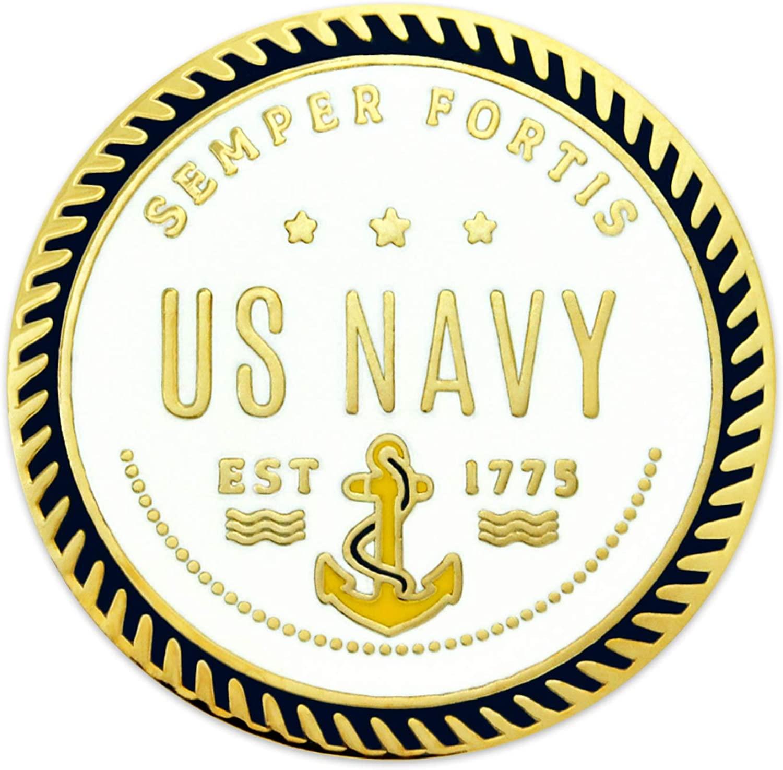 PinMart U.S. Navy Semper Fortis Military Enamel Lapel Pin Jewelry