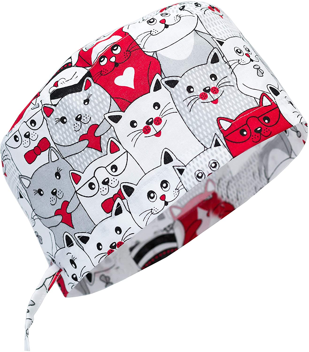 Womens and Mens Scrub Cap Scrub Hat One Size Multiple Color Badger Dog
