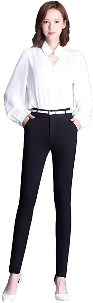 AvaCostume Women's High Waist Slim Fit Stretch Casual Dress Pencil Pants