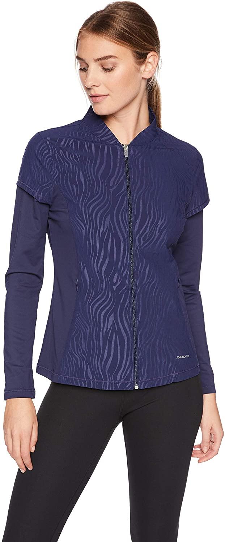 Annika by Cutter & Buck Women's Weathertec Long Sleeve Hybrid Full Zip Jacket with Pockets