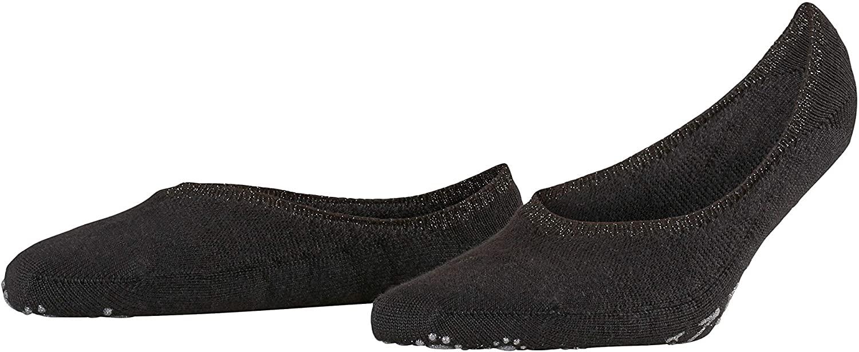 FALKE Womens Ballerina Slipper Sock - Merino Wool Blend, In Black or Grey, US sizes 6.5 to 10.5, 1 Pair