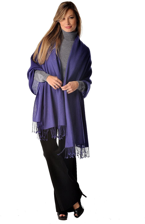 Cashmere Boutique: 100% Pure Cashmere Shawl (30 Colors, Size: 36 x 80)