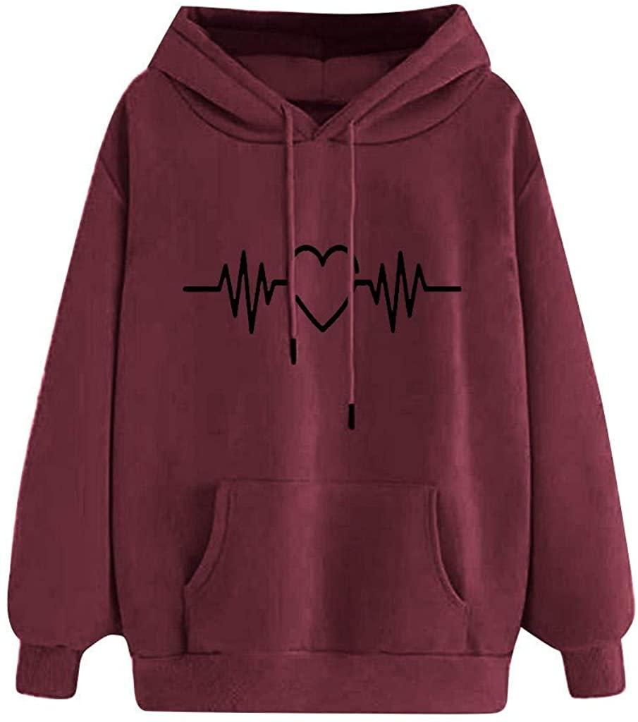 Print Hoodies for Women, Limsea 2019 Fashion Long Sleeve Pullover Hooded Casual Loose Sweatshirts Top