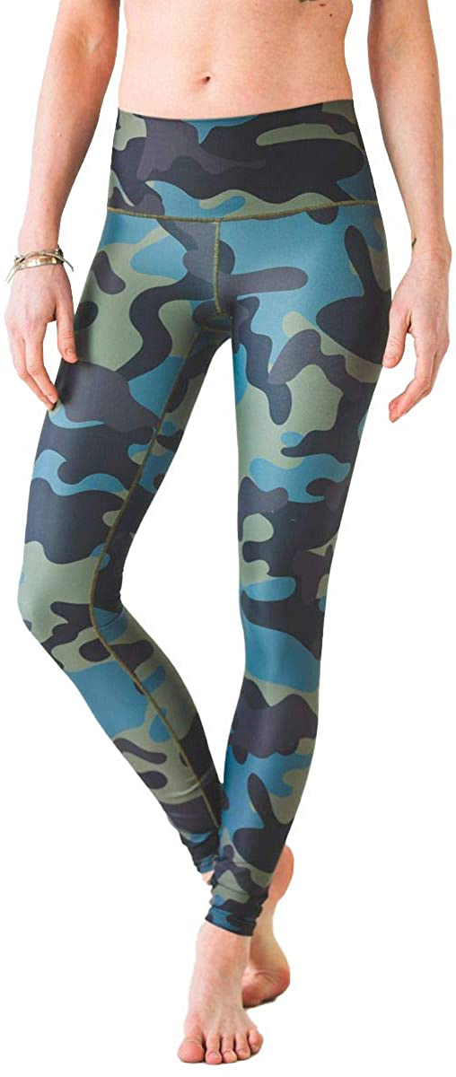 Colorado Threads Moss Camo Yoga Pant Womens Active Workout Yoga Leggings