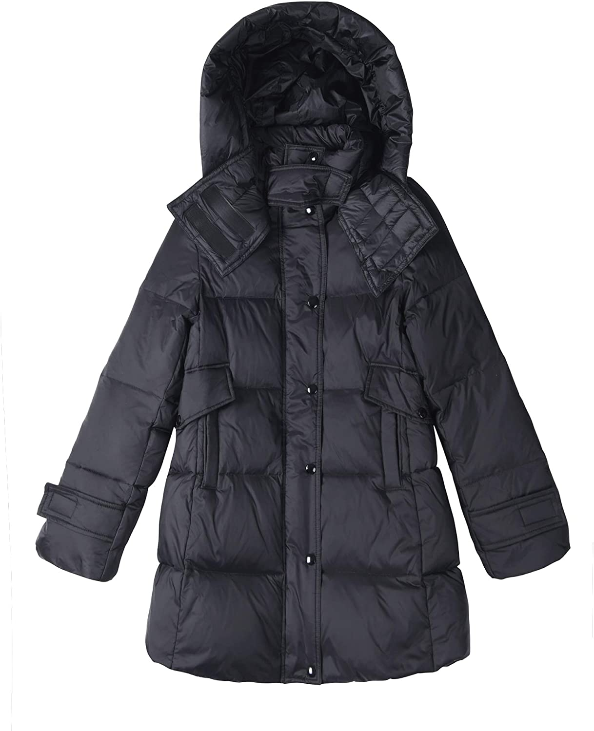 FlyGulls Womens Winter Coats Thickened Windproof Long Down Jacket with Hood