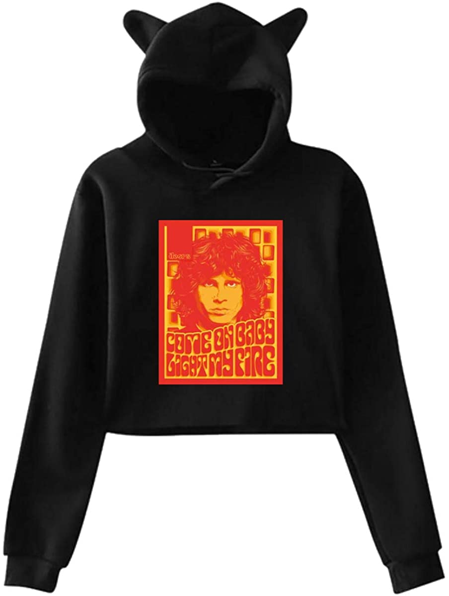 Morrison Hoodie Cat Ear Sweater Exposed Navel Fashion Kawaii Casual Sweatshirt for Womens