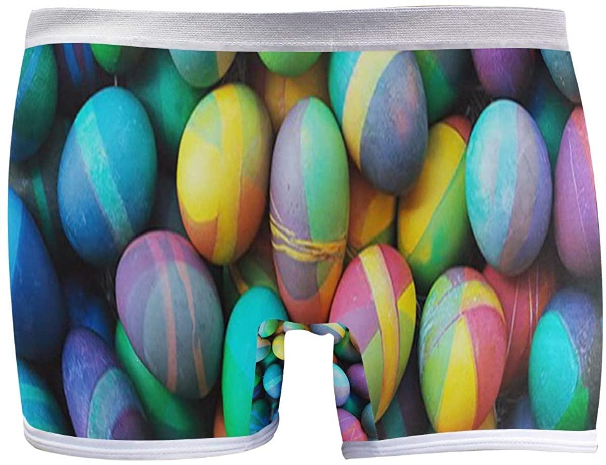 SLHFPX Easter Eggs Boyleg Panties Womens Boyshort Underwear Soft Boxer Briefs Boy Shorts