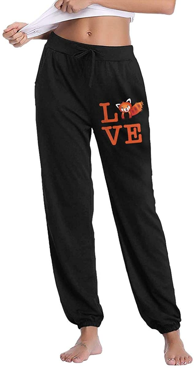 I Love Red Panda Women Sweatpants Fitness Trousers Jogger Pant