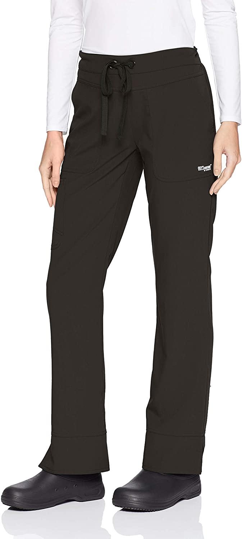Grey's Anatomy Signature Women's 3 Pocket Low Rise Scrub Pant, Black, X-Large Petite