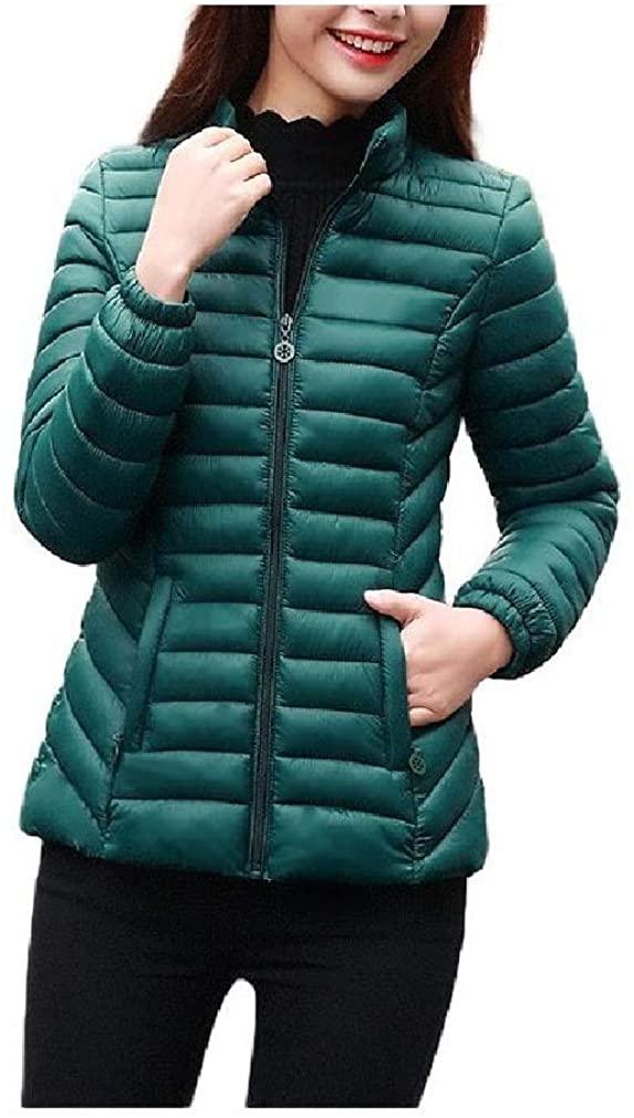 Losait Women's Quilted Lightweight Warm Winter Slim Puffer Coat Jacket