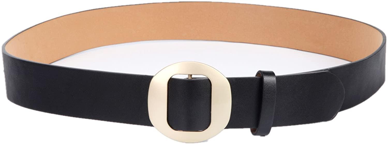 Bibest Womens Waist Belt for Dress, 1.45 Inch Wide Leather Cinch Waistband