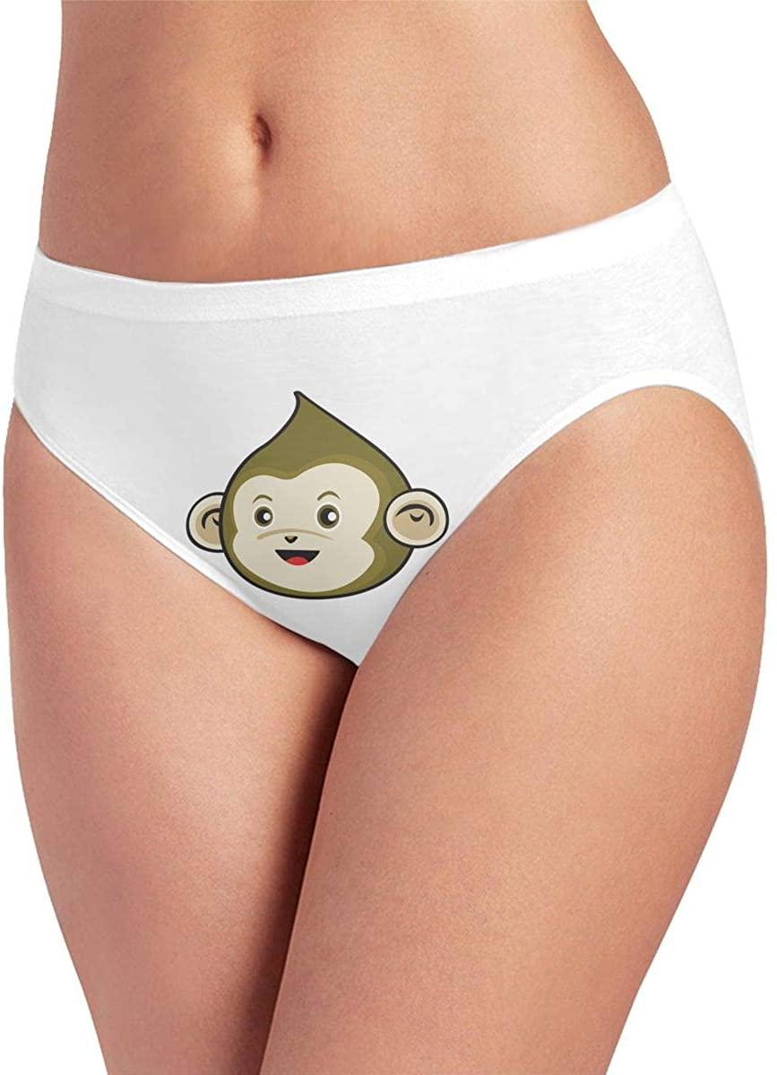 Women's Seamless Ice Silk Pantiesr No Panty Line Briefs Hipsters Green Monkey Underwea