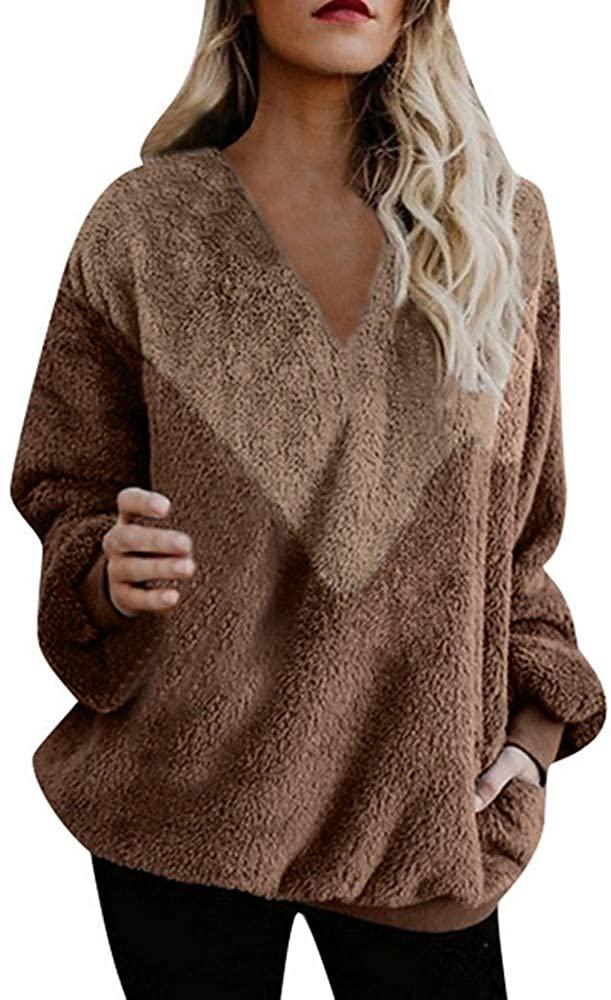 Zeious Women's Casual Sweatshirt - Color Block Black S