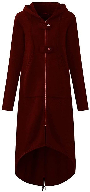Trench Coat Autumn Black Zipper 5XL Velvet Long Coat Women Overcoat Clothes