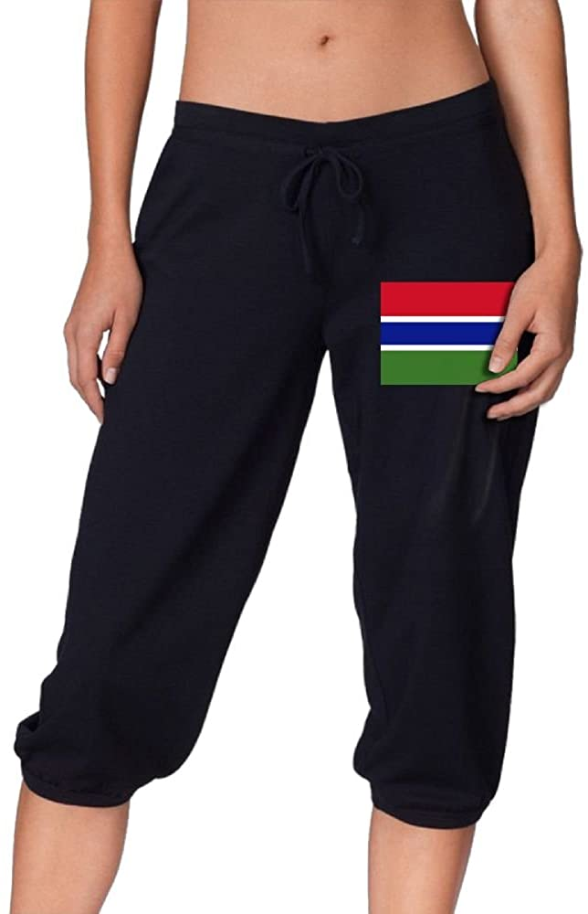 Flag of The Gambia Cute Women's Cropped Trousers Casual Pants Jogger Sweatpants