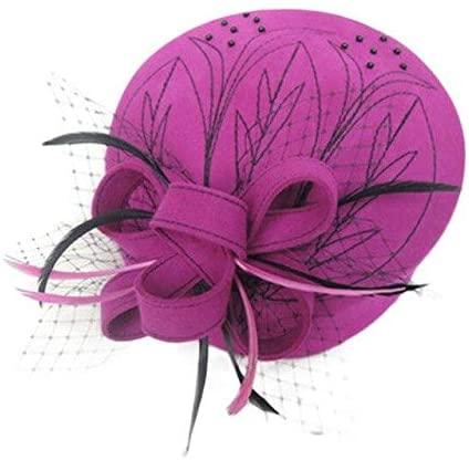 Fascinators Kentucky Derby Hats for Women Elegant Linen Black Beige Ladies Church Hat Pillbox Derby Cocktai Wide Brim Fedora