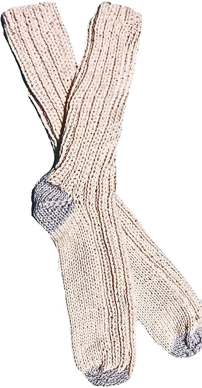 Hypoallergenic Peruvian Royal Alpaca Socks, Handknit, Organic, Silky, L