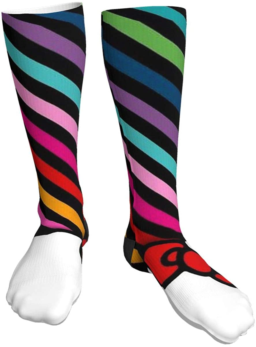 Casual Knee High Socks Hello Kitty Compression Socks For Men Women Running, Hiking And Travel
