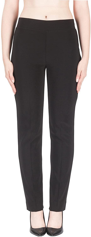 Joseph Ribkoff Black Elastic Waist Pull-on Stretch Pants Style 143105 - Size 4