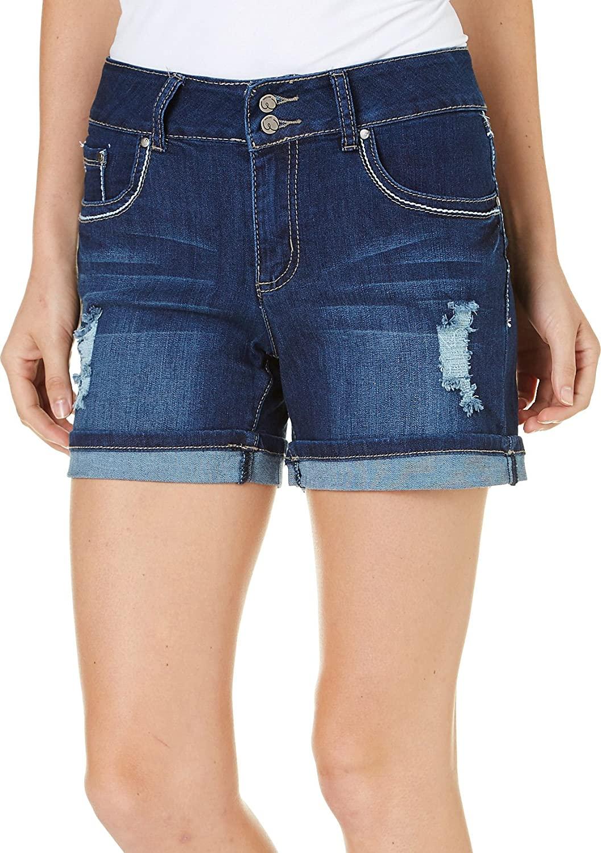 Earl Jean Women Ripped Shorts Esp075