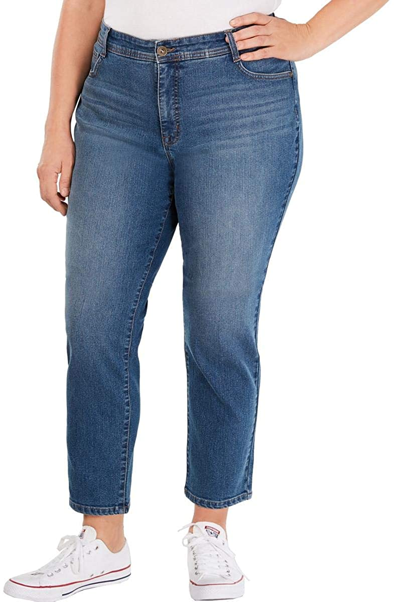 Style & Co. Womens Plus High Rise Tummy Control Slim Leg Jeans