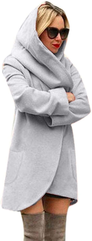 Jie yi long two department store Loose Kimono Coat Women Woolen Hooded Thin Coat Loose Ladies Casual Hoodies Jacket Overcoat