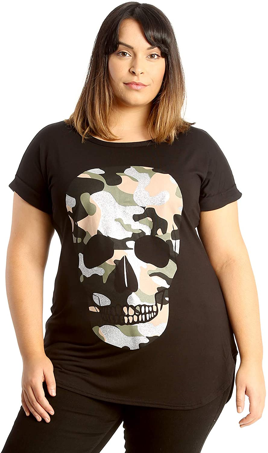 Nouvelle Collection Camouflage Skull Print T-Shirt Black 20