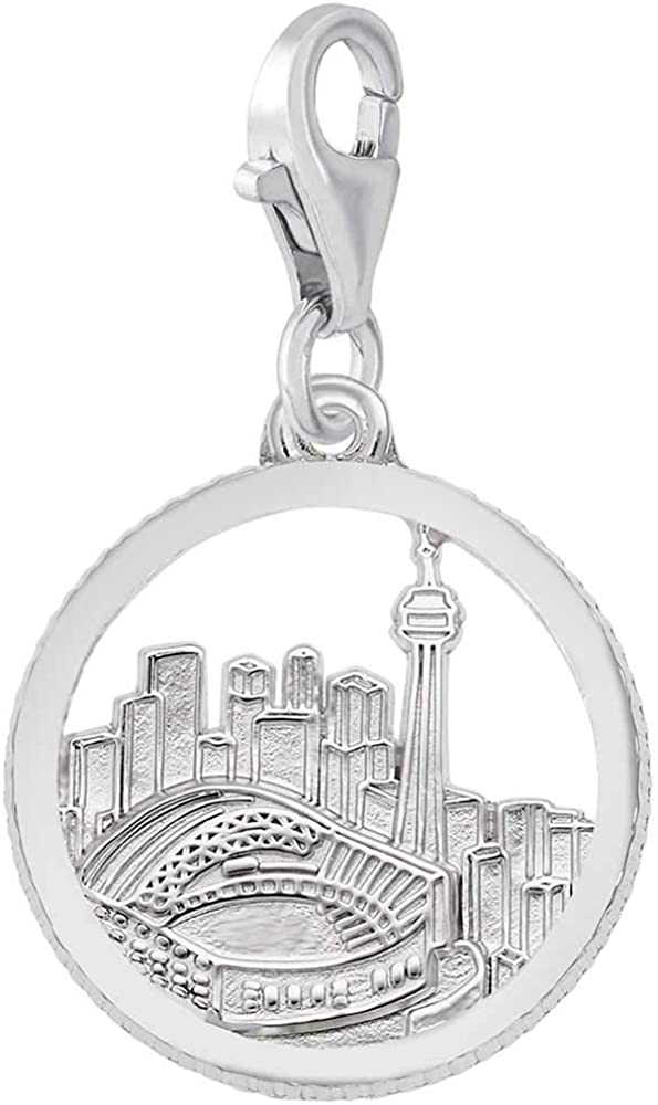 Rembrandt Charms Toronto Skyline Charm with Lobster Clasp