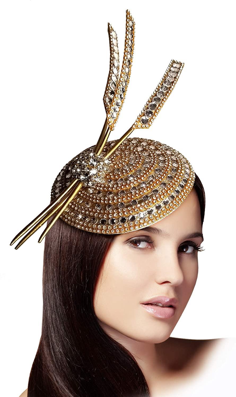 Mr. Song Millinery All-Season Beaded Fascinator Headband Contessa AF127