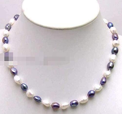 Davitu Necklaces - Sale Big 7mm-8mm White Baroque Natural Freshwater Pearl 17