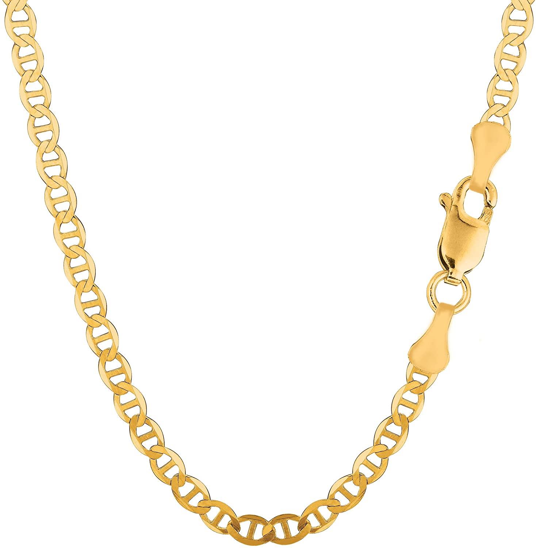 10k Yellow Gold Mariner Link Chain Bracelet, 4mm