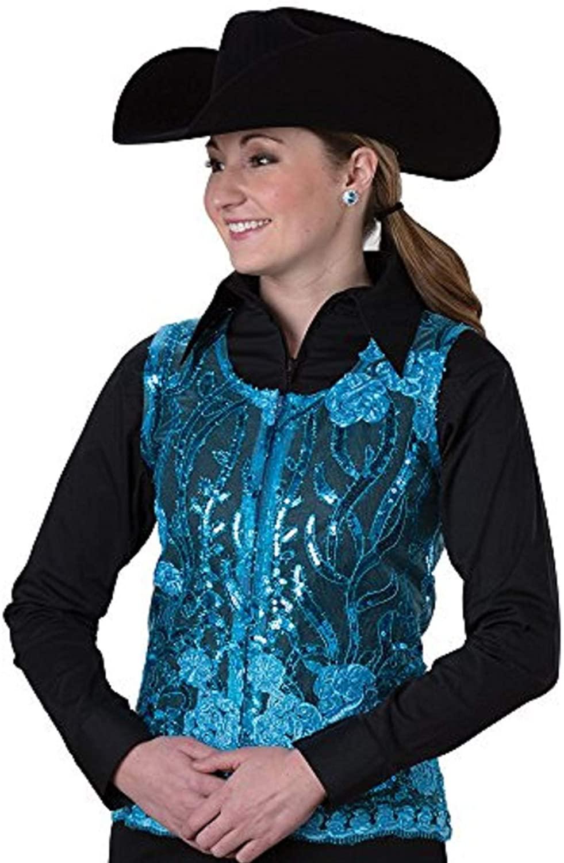 Turquoise Sequin Show Vest