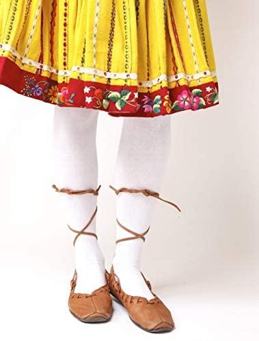 KAISA white cotton tights
