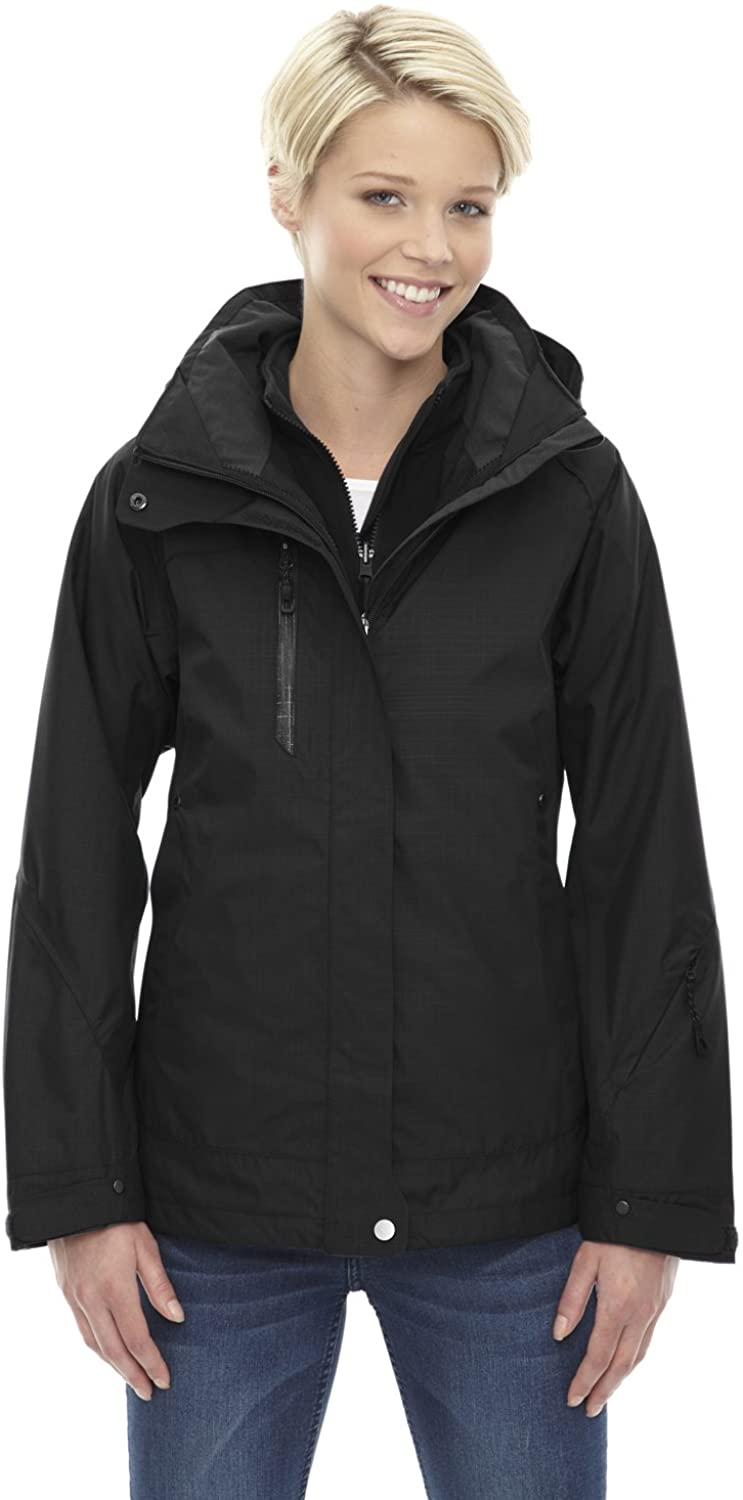 Ash City - North End 3-In-1 Jacket With Soft Shell Liner 78178 -BLACK 703 L