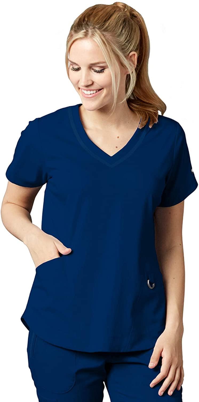 Grey's Anatomy Impact 7187 Women's Harmony Scrub Top Indigo S