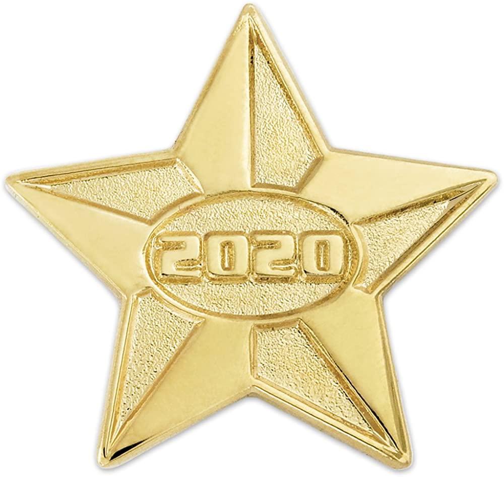 PinMart 2020 Year Gold Star Class of School Graduation Lapel Pin