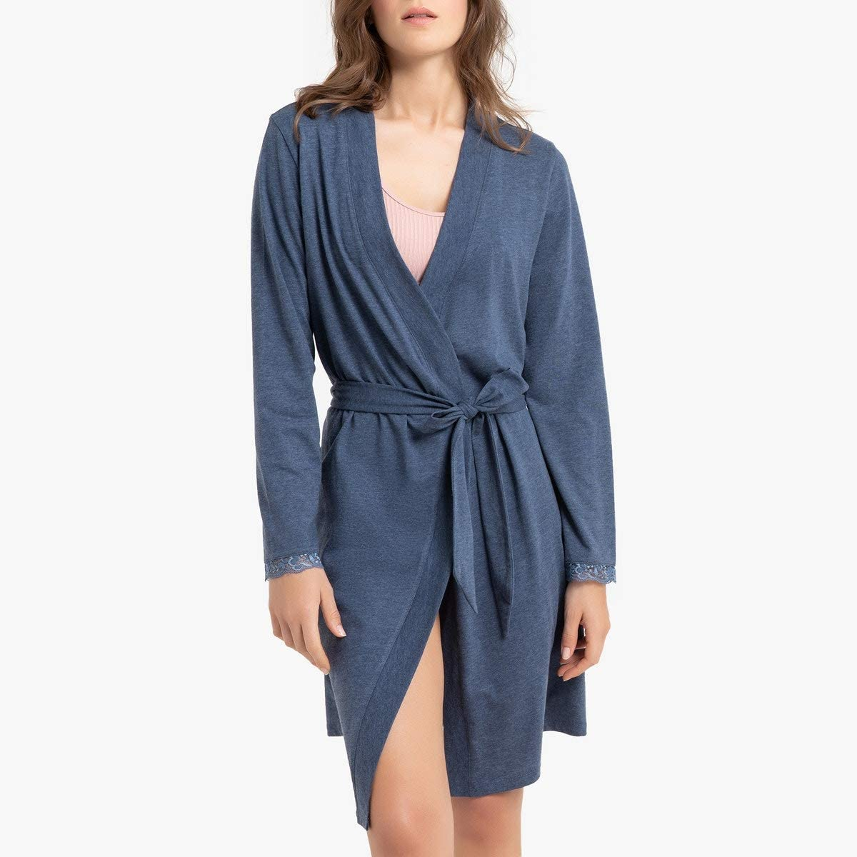 La Redoute Collection Womens Long-Sleeved Bathrobe